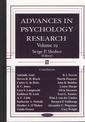 Advances in Psychology Research: Volume 19