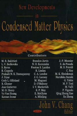 New Developments in Condensed Matter Physics