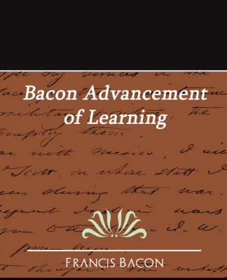 Bacon Advancement of Learning