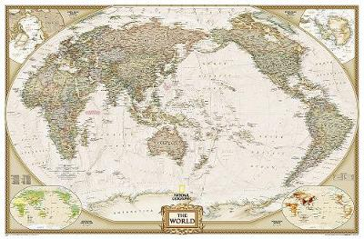 World Executive, Pacific Centered, Enlarged &, Laminated: Wall Maps World