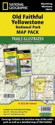Old Faithful, Yellowstone, Map Pack Bundle: Trails Illustrated National Parks