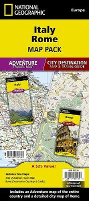 Italy, Rome, Map Pack Bundle: Travel Maps International Adventure/Destination Map