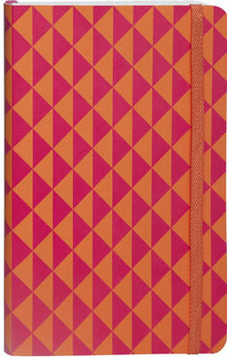 Flexi Ruled Pink Orange Op Art Medium