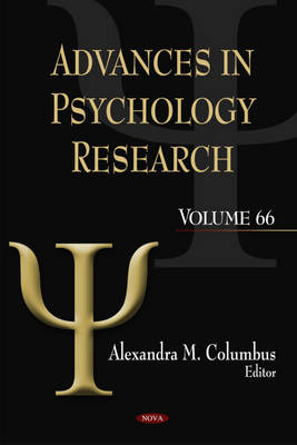Advances in Psychology Research: Volume 66