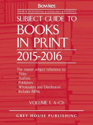 Subject Guide to Books in Print: 2014/15