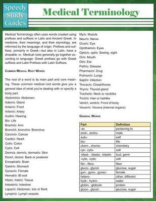 Medical Terminology (Speedy Study Guides: Academic)