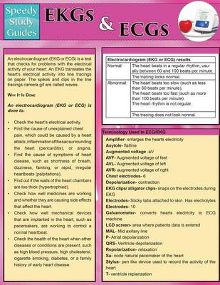 EKGs and Ecgs (Speedy Study Guides: Academic)