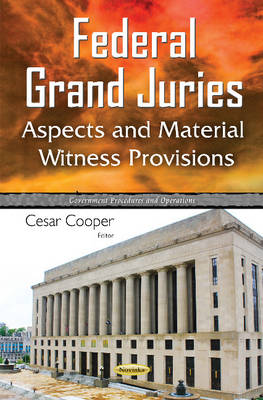 Federal Grand Juries: Aspects & Material Witness Provisions