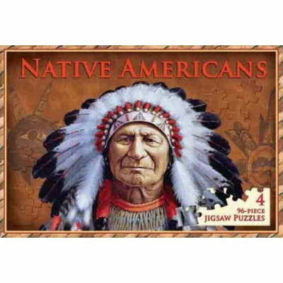 Native Americans: 4 96-piece Jigsaw Puzzles
