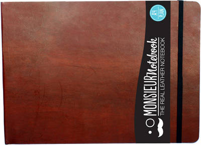 Monsieur Notebook- Real Leather Landscape A4 Brown Plain