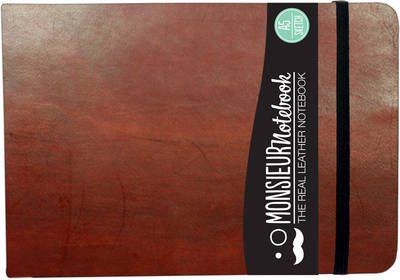 Monsieur Notebook - Real Leather Landscape A5 Brown Sketch