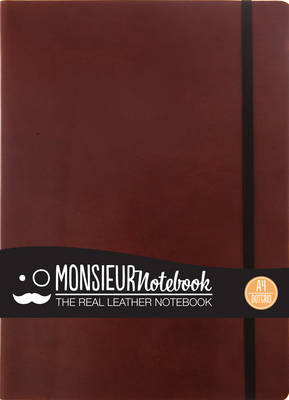 Monsieur Notebook - Real Leather A4 Brown Dot Grid