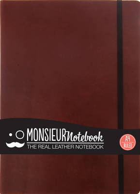 Monsieur Notebook - Real Leather A4 Brown Ruled