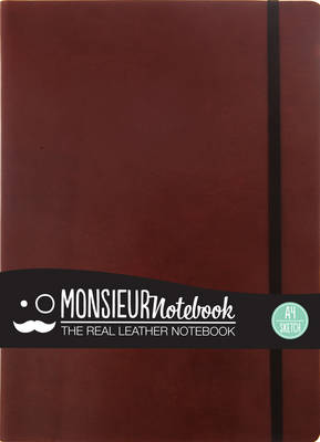 Monsieur Notebook - Real Leather A4 Brown Sketch