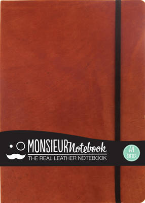 Monsieur Notebook - Real Leather A4 Tan Sketch