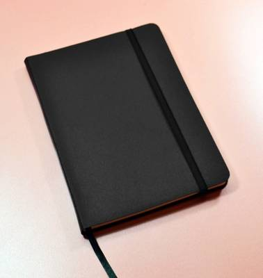 Monsieur Notebook Leather Journal - Black Ruled Large A5