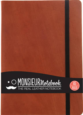 Monsieur Notebook Leather Journal - Tan Ruled Medium A5