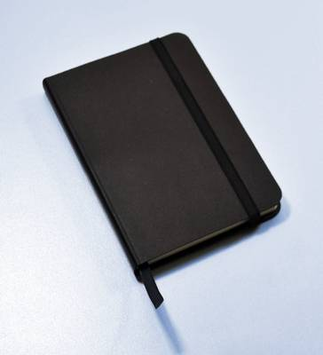 Monsieur Notebook Leather Journal - Black Plain Small A6