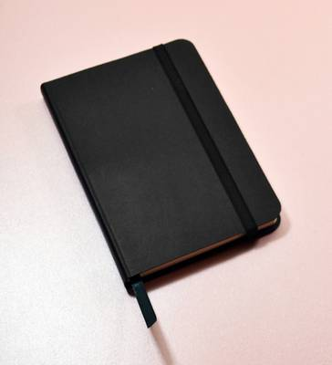 Monsieur Notebook Leather Journal - Black Ruled Small A6