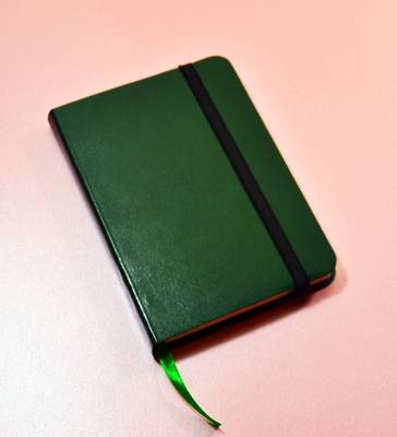 Monsieur Notebook Leather Journal - Green Ruled Small A6