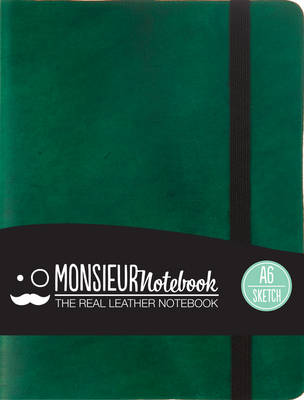 Monsieur Notebook - Real Leather A6 Green Sketch
