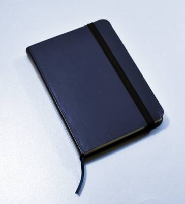 Monsieur Notebook Leather Journal - Navy Plain Small A6