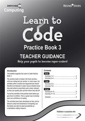 Learn to Code Teacher's Notes 3