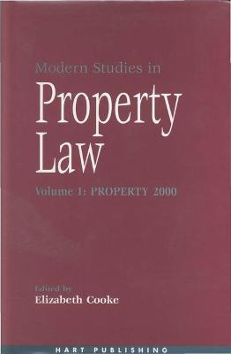 Modern Studies in Property Law: 2000: Property
