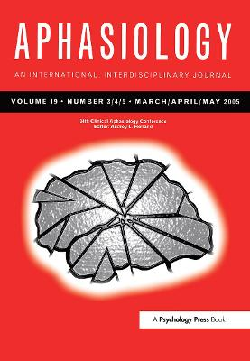 34th Clinical Aphasiology Conference: A Special Issue of Aphasiology