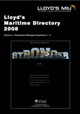 Lloyd's Maritime Directory: 2008: Pt. 2: Shipping Services