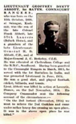 Bond of Sacrifice: A Biographical Record of British Officers Who Fell in the Great War: v. 1: August-December 1914