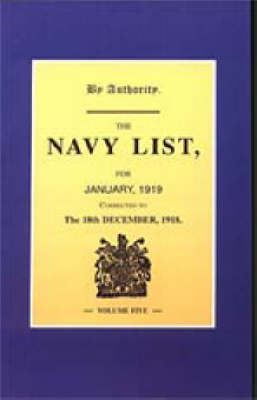 Navy List January 1919 (corrected to 18th December 1918)