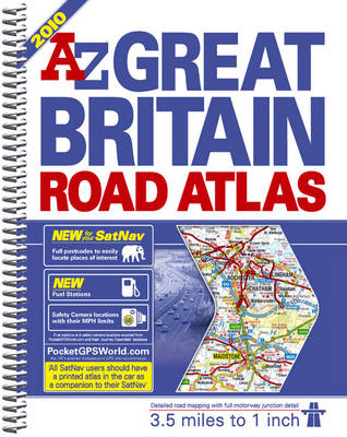 A-Z Great Britain Road Atlas: 3.5 Miles to 1 Inch / 2km to 1cm