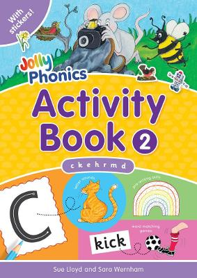 Jolly Phonics Activity Book 2: in Precursive Letters (BE)