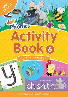 Jolly Phonics Activity Book 6: in Precursive Letters (BE)