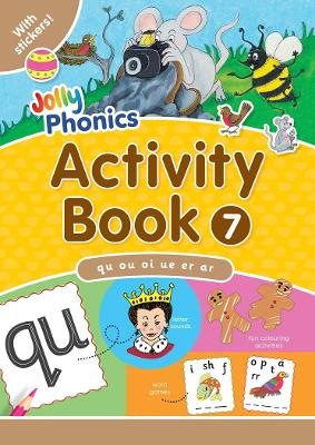 Jolly Phonics Activity Book 7: In Precursive Letters (British English edition)