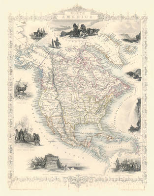 "John Tallis Map of North America 1851: 20"" x 16"" Photographic Print of  North America"