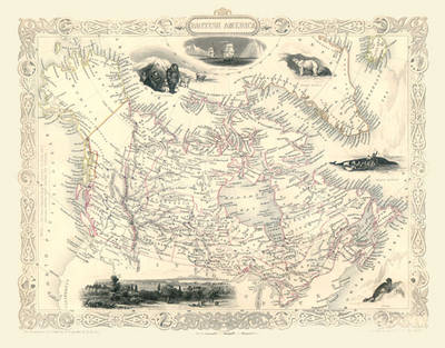"John Tallis Map of Canada 1851: 20"" x 16"" Photographic Print of British North America (Canada)"