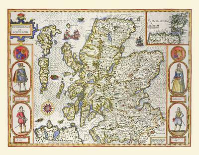 "John Speed's Map of Scotland 1611: 30"" x 25"" Large Photographic Poster Print of Scotland 1611"