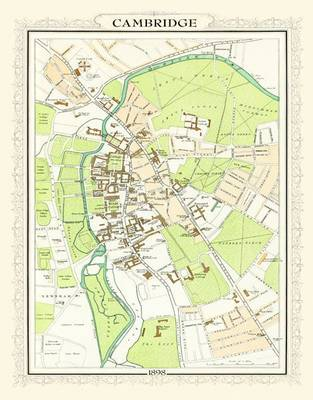 Map of Cambridge 1898: Photographic Print of Map of Cambridge 1898