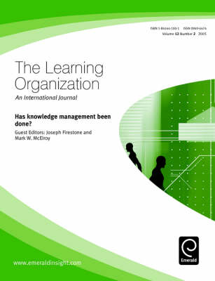 Has Knowledge Management Been Done