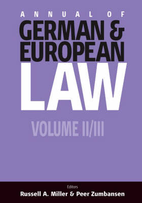 Annual of German and European Law: Pt. 2