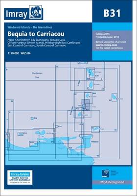 Imray Chart B31: Grenadines - Middle Sheet; Bequia to Carriacou