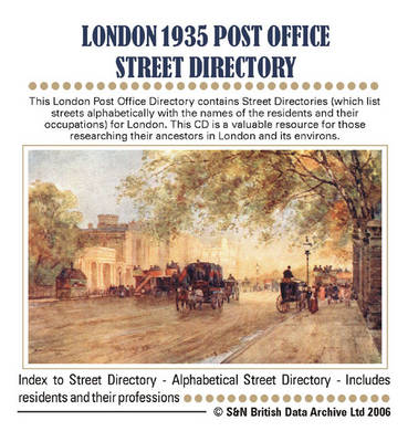 London 1935: Post Office Street Directory