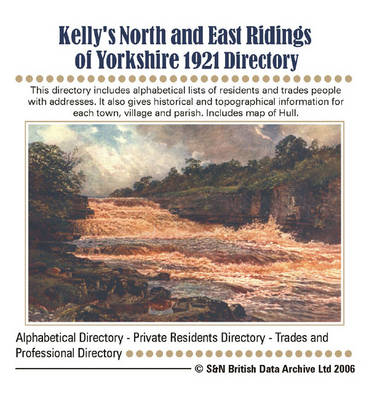 Yorkshire, North and East Ridings 1921 Kelly's Directory