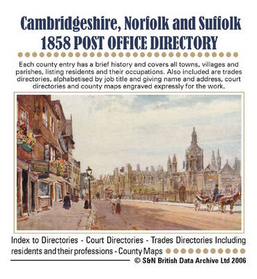 Cambridge, Norfolk and Suffolk 1858 Post Office Directory
