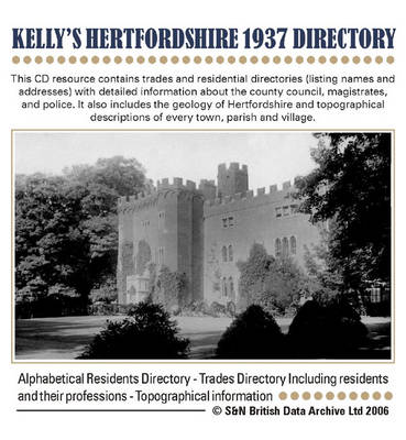 Hertfordshire, Kelly's 1937 Directory