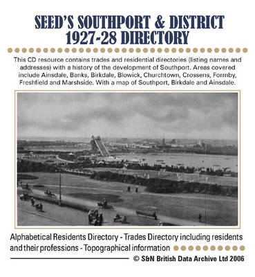 Lancashire, Seed's Southport and District 1927-28 Directory