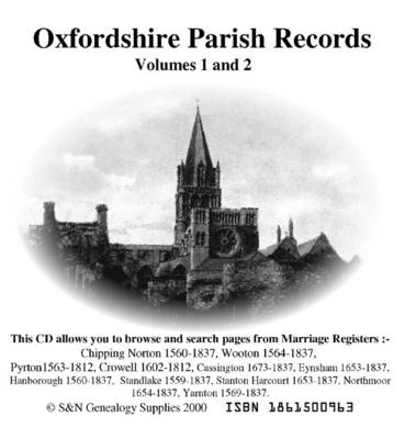 Oxfordshire Phillimore Parish Records (Marriages): v. 1 and 2