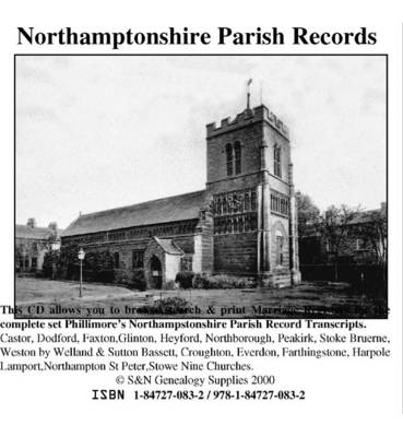 Northamptonshire Phillimore Parish Records (Marriages): v. 1 and 2